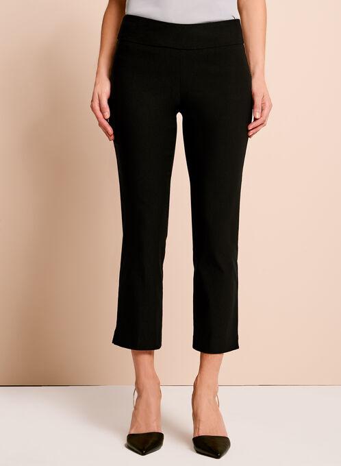 Pull-On Stretch Capri Pants, Black, hi-res