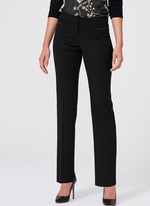 Lauren Tailored Fit Straight Leg Pants, Black, hi-res