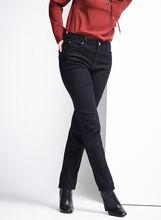 Simon Chang Denim Pants , Black, hi-res