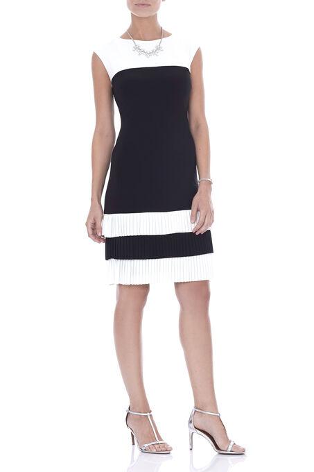 Frank Lyman Fringe Detail Dress, Black, hi-res