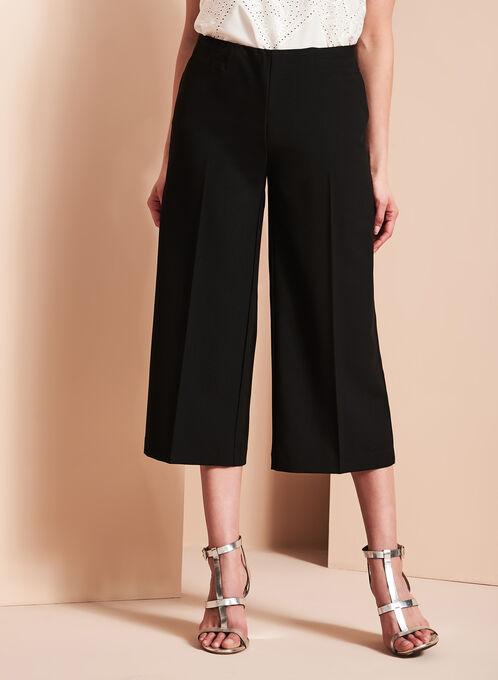 Jupe-culotte à taille élastiquée, Noir, hi-res