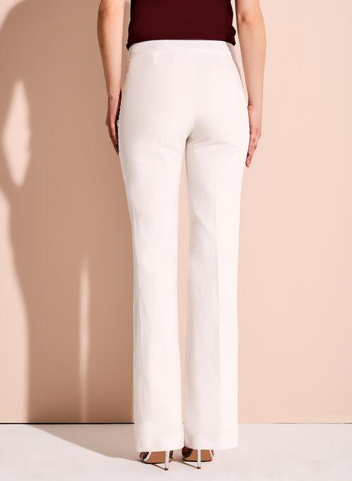 Wide Leg Linen Pants, Off White, hi-res