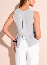 Picadilly Lurex Knit Top, Silver, hi-res