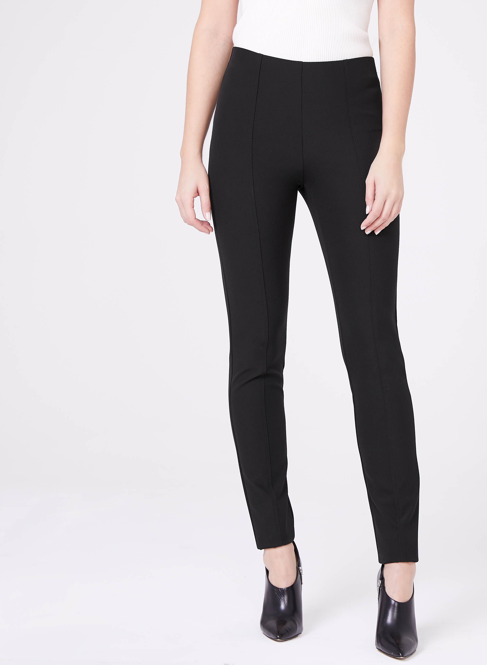 Louben Scuba Slim Leg Pants, Black, hi-res
