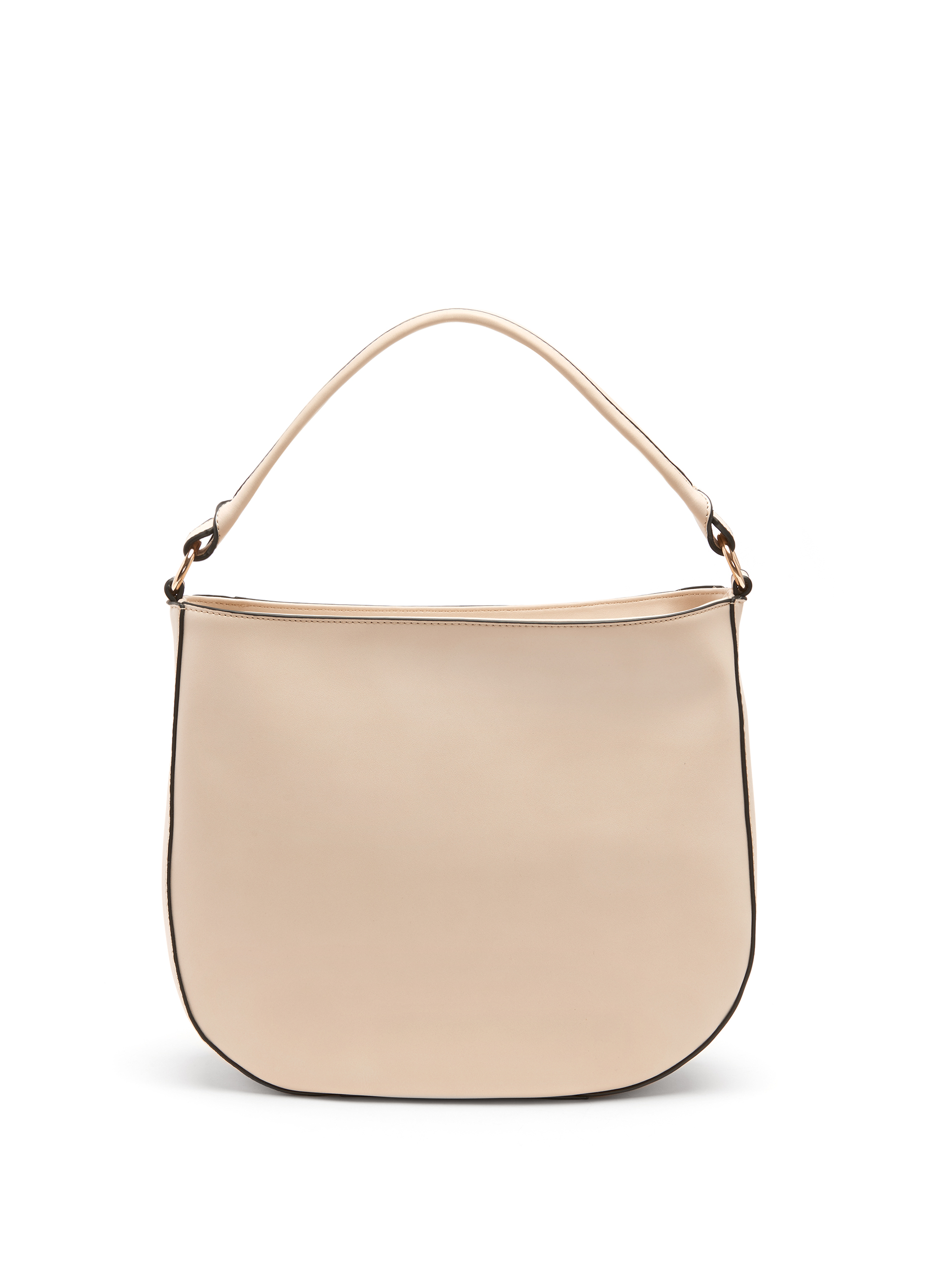Whipstitch Trim Hobo Bag, Off White, hi-res