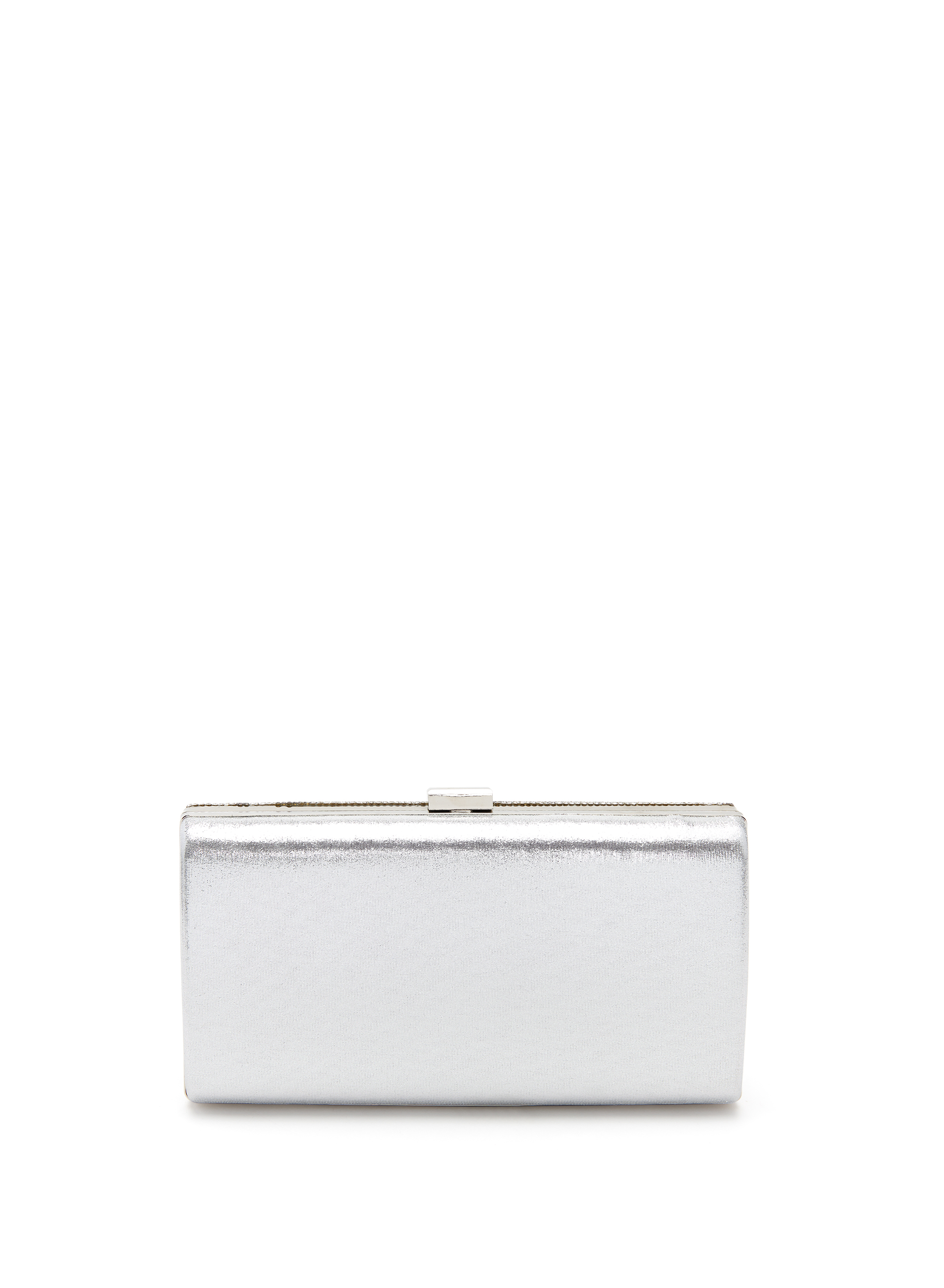 Geometric Crystal Clutch, Silver, hi-res