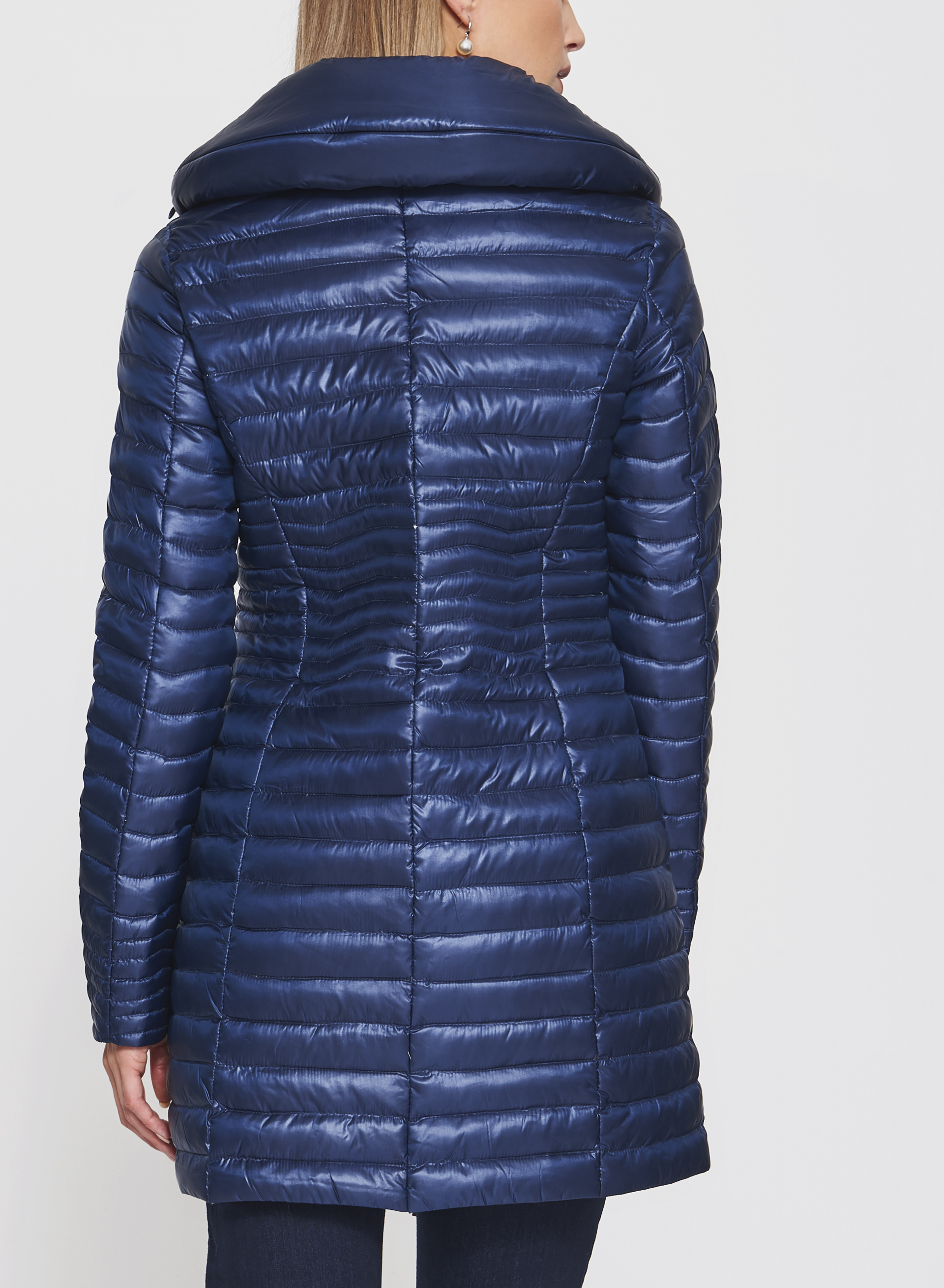 Nuage - Lightweight Packable Down Coat, Blue, hi-res