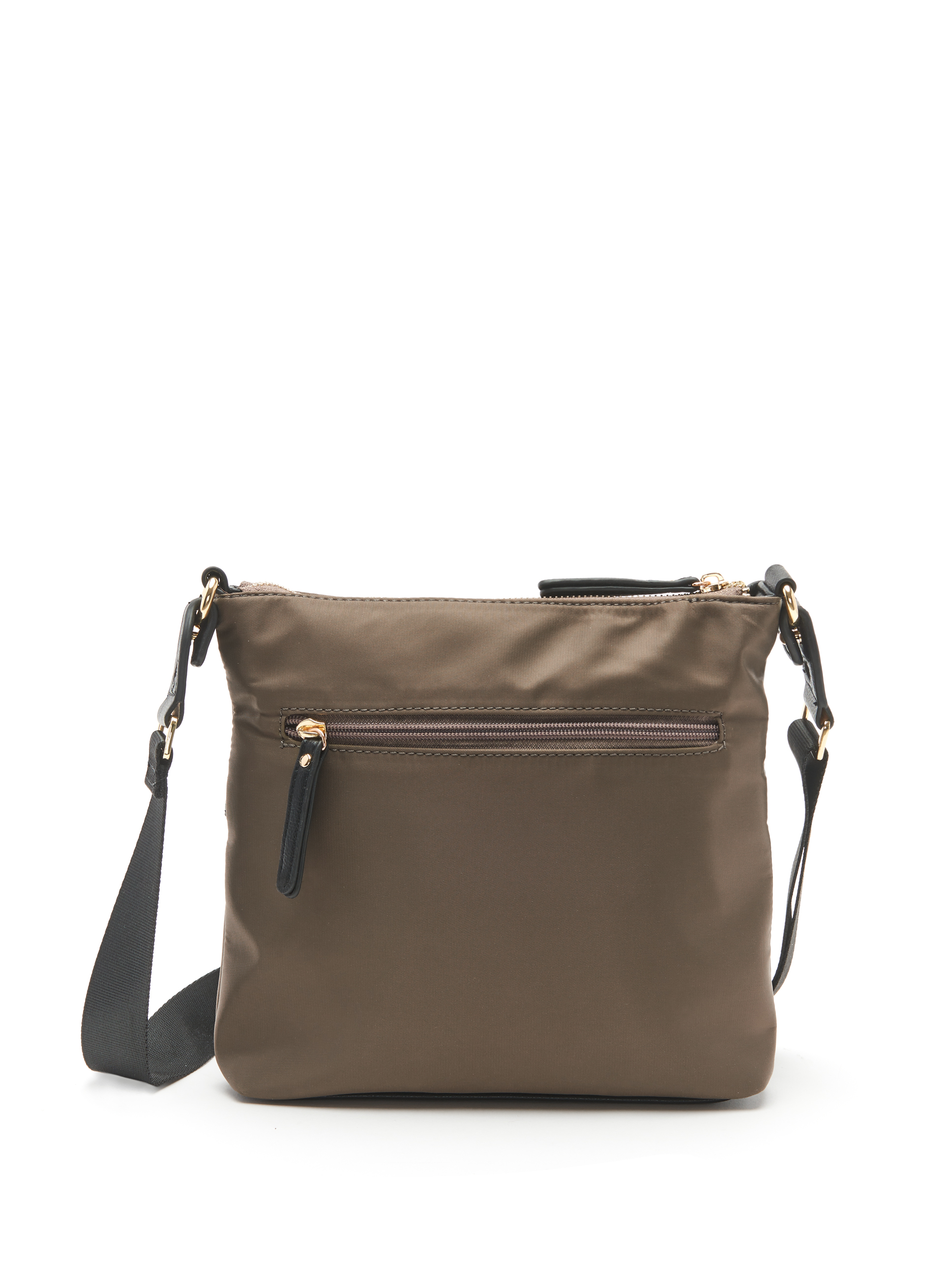 Nylon Crossbody Bag, Green, hi-res