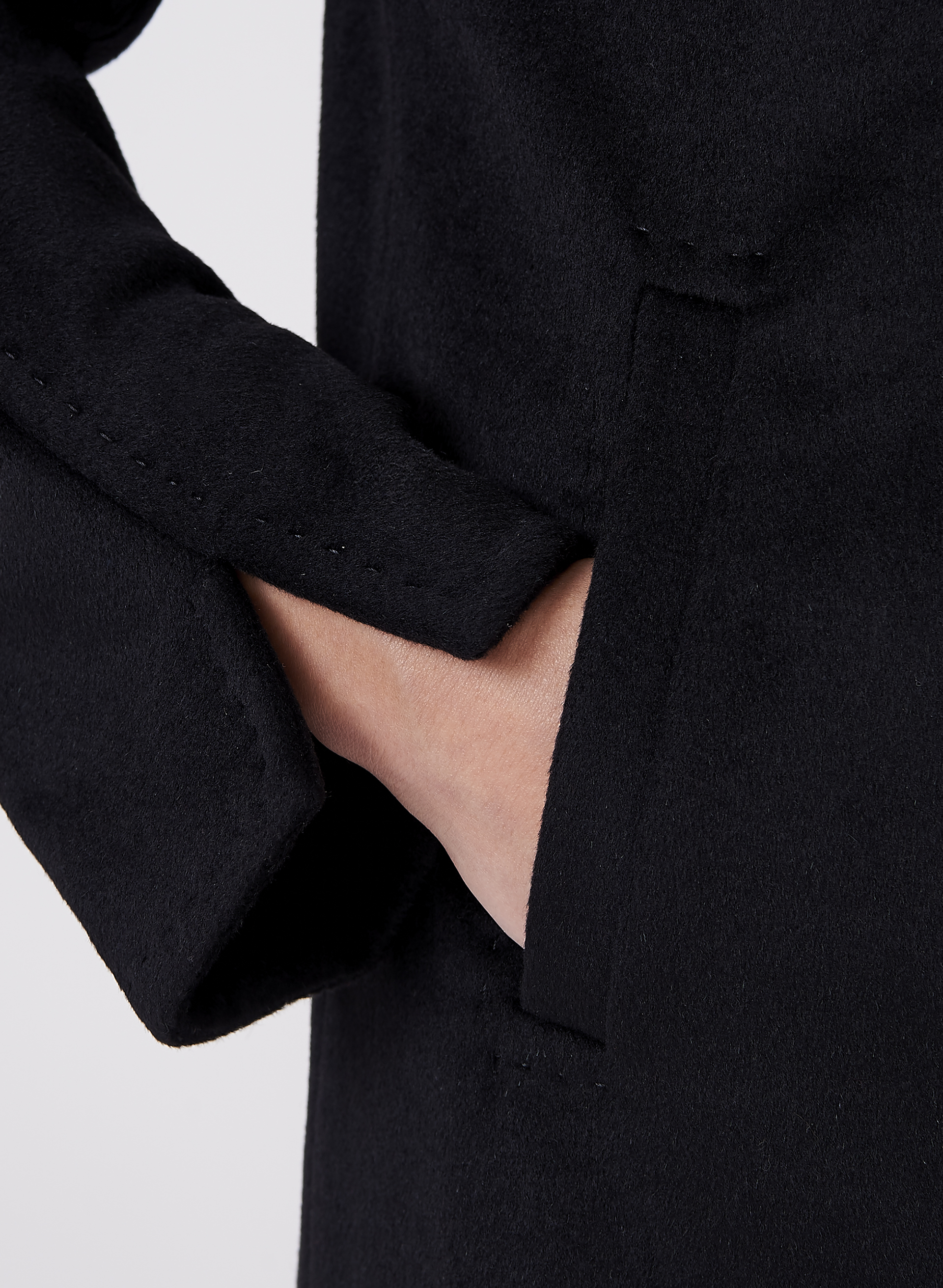 Ellen Tracy - Wool Blend Coat, Black, hi-res