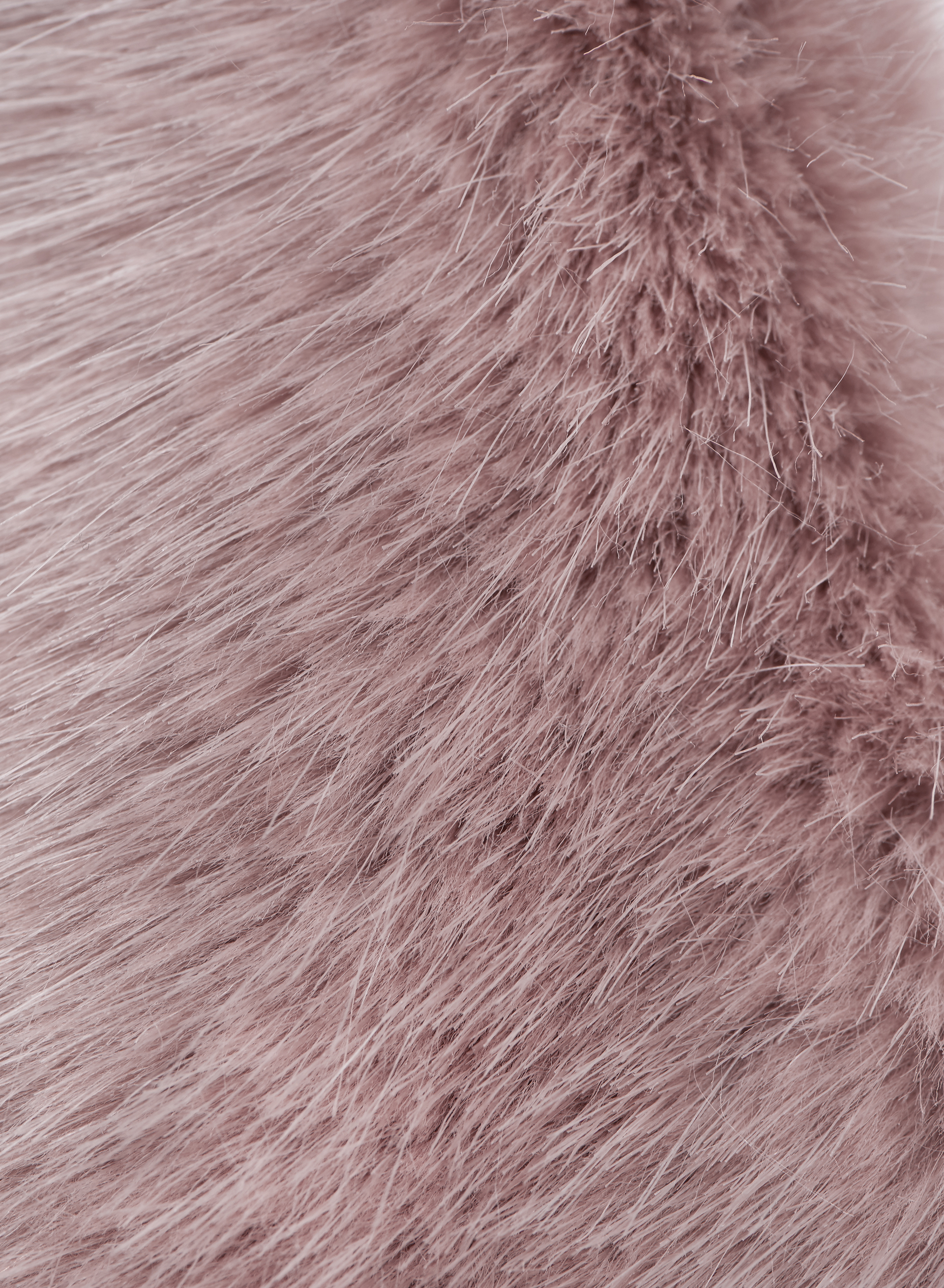 Luxury Faux Fur Scarf, Pink, hi-res