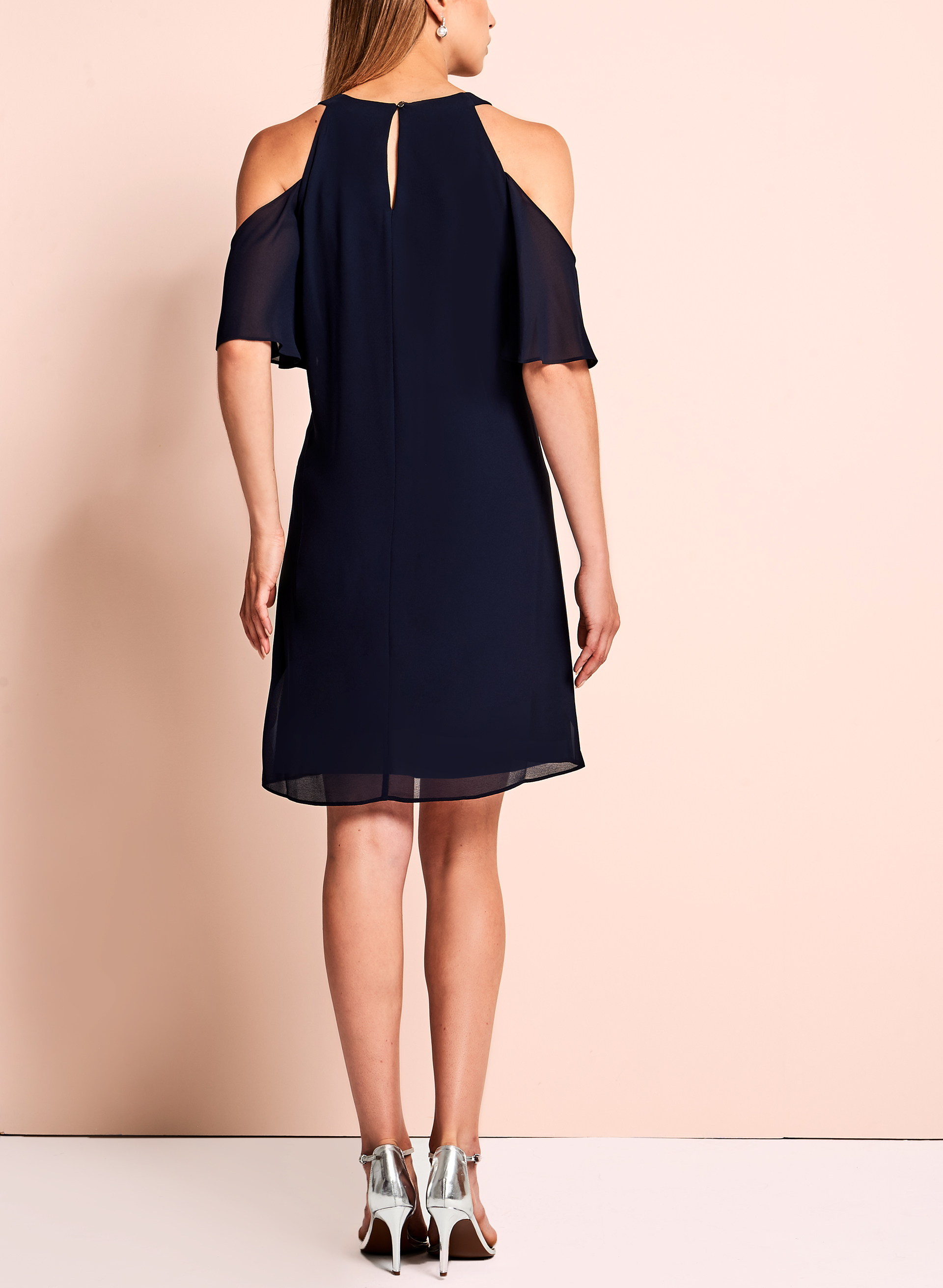 Vince Camuto - Cold Shoulder Dress, Blue, hi-res