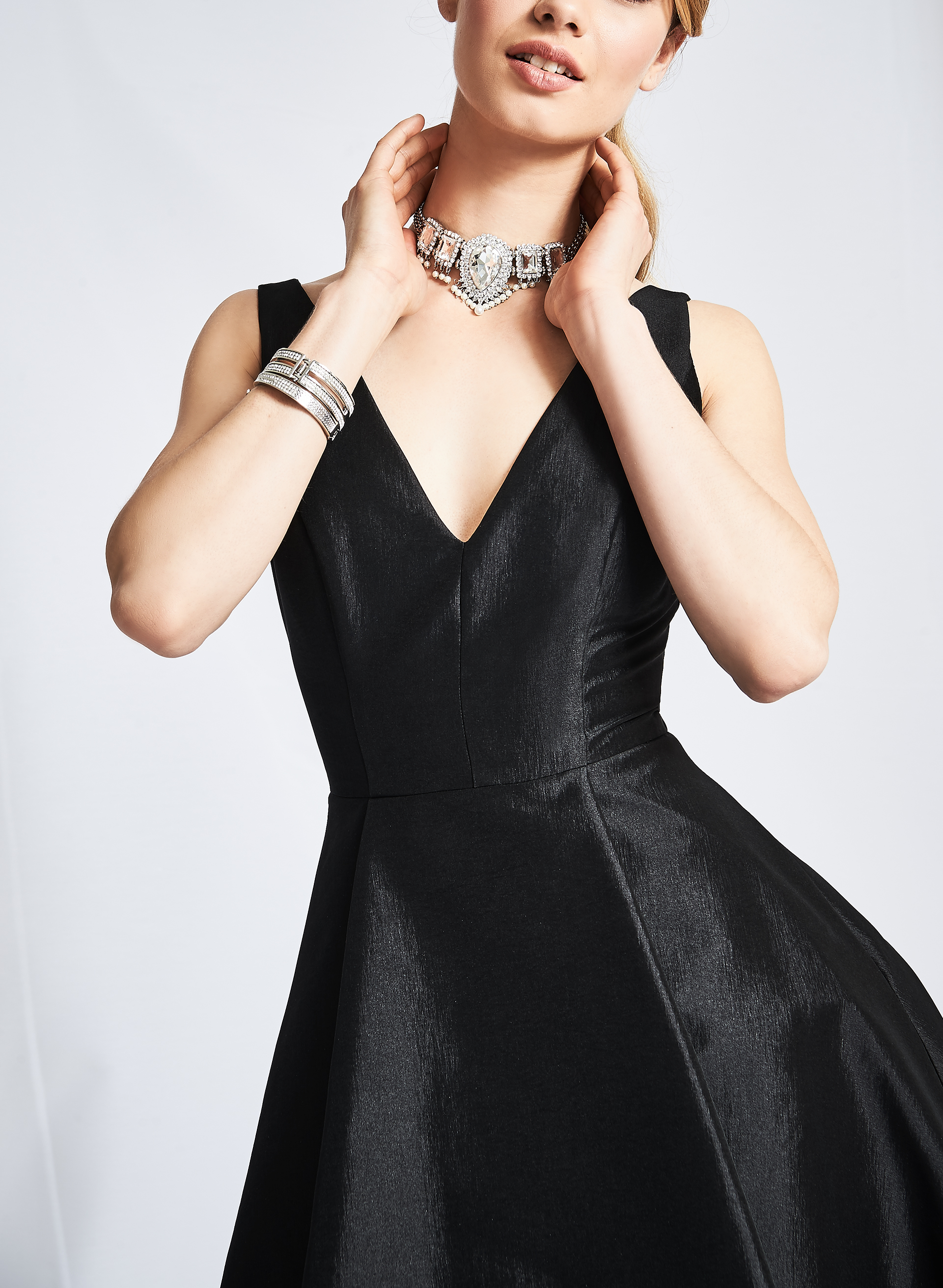 Lace Trim Evening Dress Free Shipping Melanie Lyne
