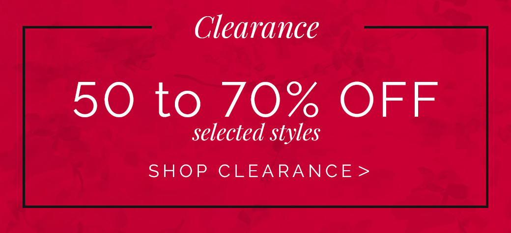 Shop our clearance