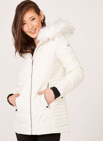 Novelti - Faux Down Quilted Coat, , hi-res