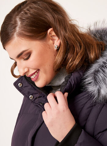 Novelti - Fur Trim Down Coat, , hi-res