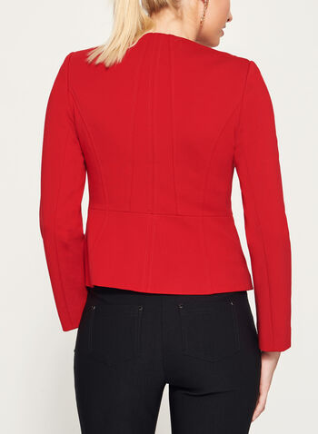 Zipper Trim Ponte Jacket, , hi-res