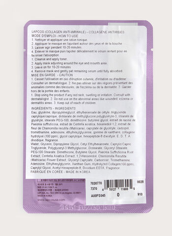 Lapcos - Collagen Anti-Wrinkle Mask, , hi-res