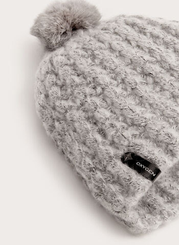 Fur Trim Knit Hat, , hi-res