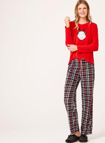 Pillow Talk - Plaid Print Pajama Set, , hi-res