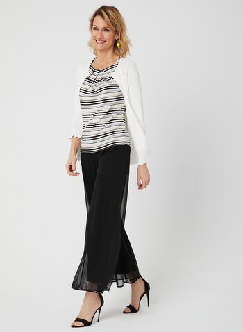 Pull-On Wide Leg Pants, , hi-res