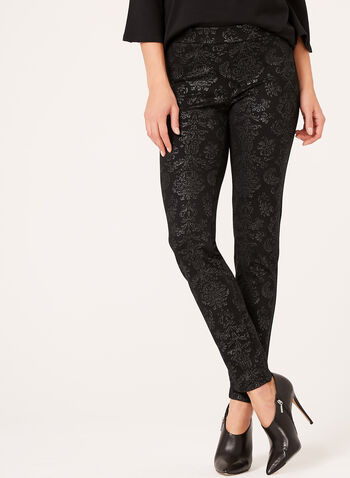 Baroque Print Pull-On Pants, , hi-res