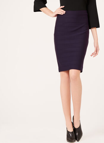 Ottoman Knit Pencil Skirt, , hi-res