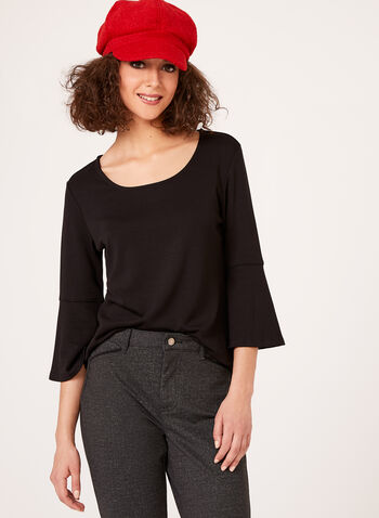 Linea Domani - 3/4 Bell Sleeve Top, , hi-res
