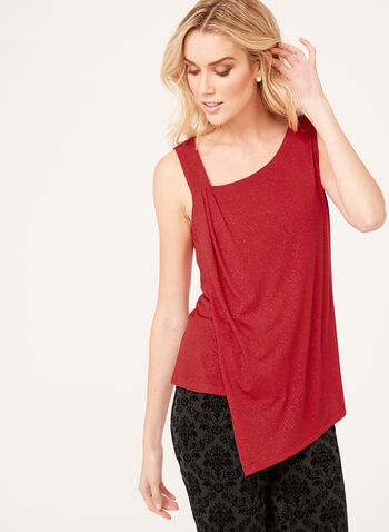 Metallic Detail Asymmetric Top, , hi-res
