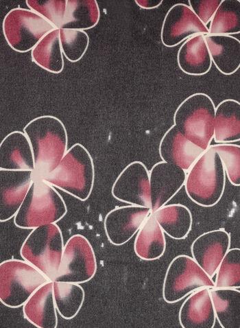 Floral Print Fringed Scarf, , hi-res