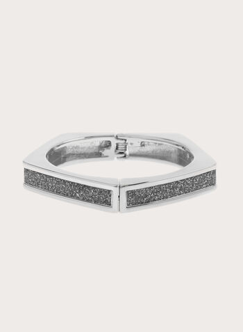 Glitter Hinge Bangle, , hi-res