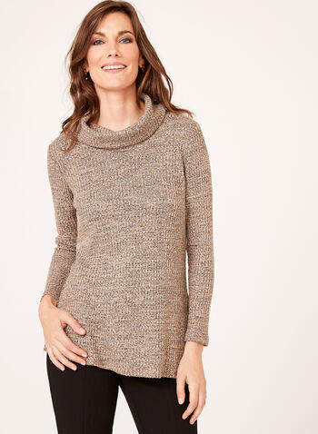 Cowl Neck Sweater Tunic, , hi-res