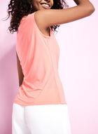 Sleeveless Jersey Tank Top, Pink, hi-res