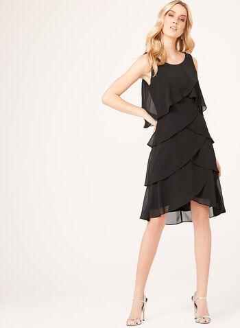 Crystal Embellished Tiered Dress, , hi-res