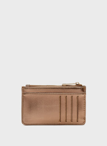 Credit Card Holder & Coin Purse, Brown, hi-res