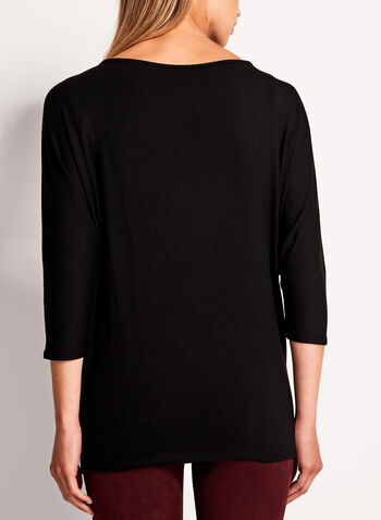 3/4 Sleeve Boat Neck Sweater, , hi-res