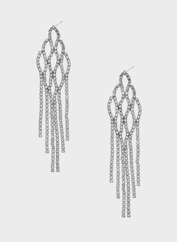 Boucles d'oreilles chandelier en cristaux, , hi-res