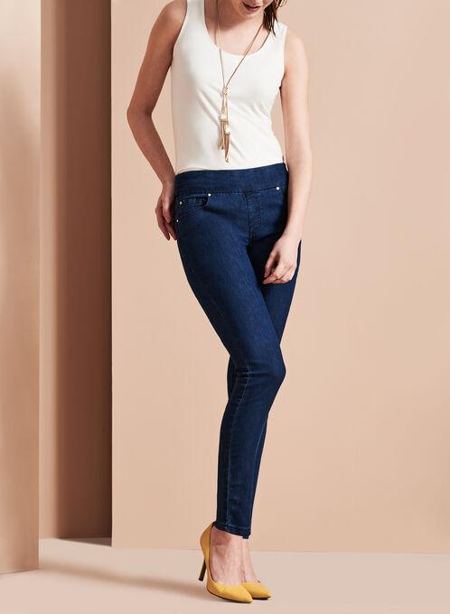 Simon Chang Slim Leg Jeans, Blue, hi-res