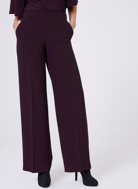 Soho Slimming Fit Wide Leg Pants, Purple, hi-res