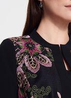 T Tahari  - Floral Embroidered Cropped Blazer, Black, hi-res