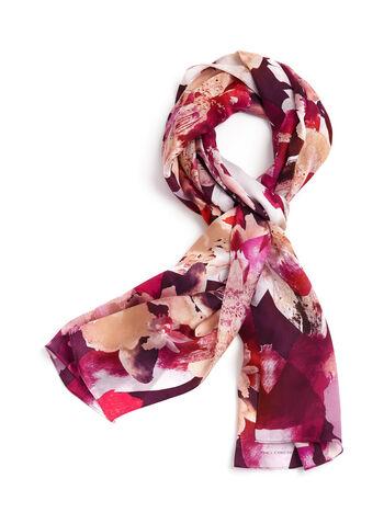 Floral Print Silk Scarf, , hi-res