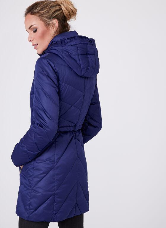 Ellen Tracy - Quilted Coat, Blue, hi-res