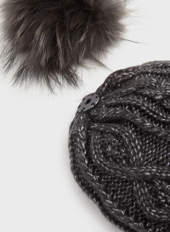 Cable Knit Pom-Pom Hat, , hi-res