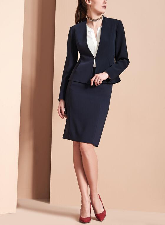 Louben - Pencil Skirt, Blue, hi-res