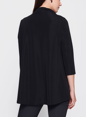 3/4 Sleeve Drape Neck Top, , hi-res