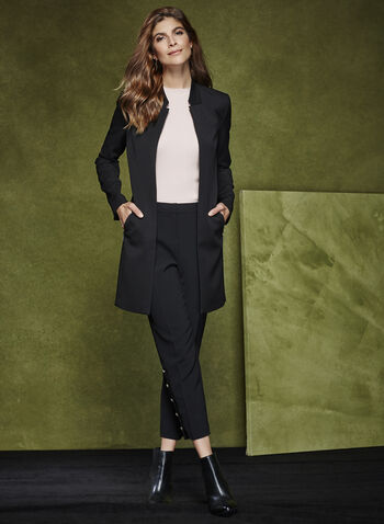 Long Notch Collar Jacket, , hi-res