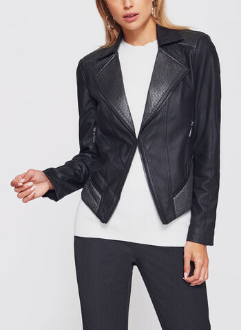 Perfecto Faux Leather Jacket, , hi-res