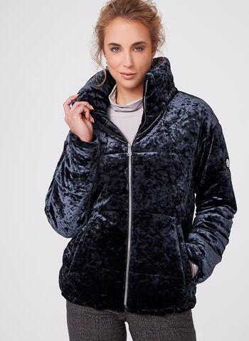 Bernardo - Velvet Polyfill Coat, , hi-res