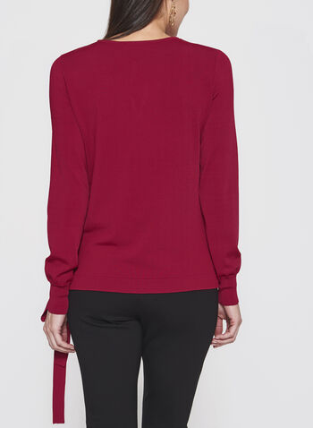 Faux Crossover Knit Sweater, , hi-res