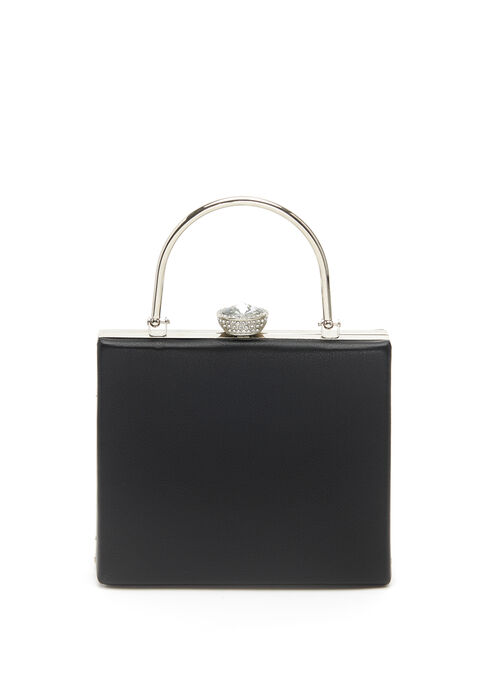 Jewel Closure Clutch, Black, hi-res