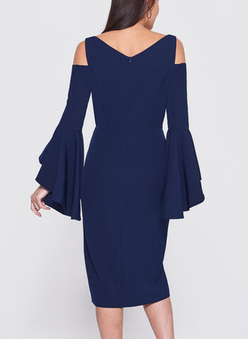 Maggy London - Cold Shoulder Ruffle Sleeve Dress, , hi-res